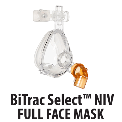 BiTrac Select NIV Full Face Mask Anti Asphyxia with Leak Elbow