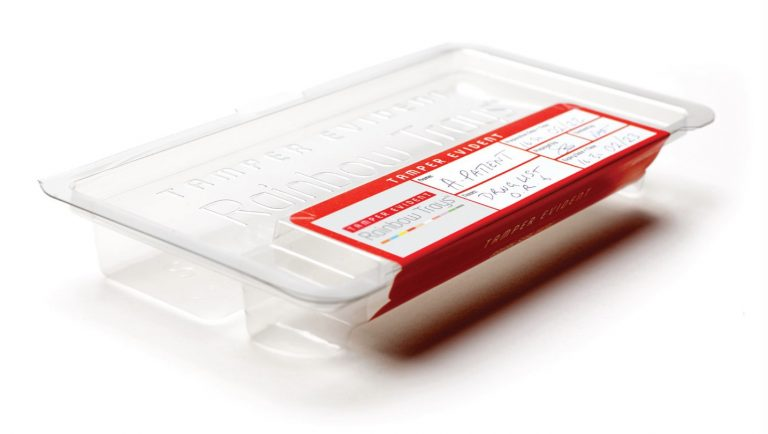 Tamper Evident Rainbow Trays ™ by Uvamed ®