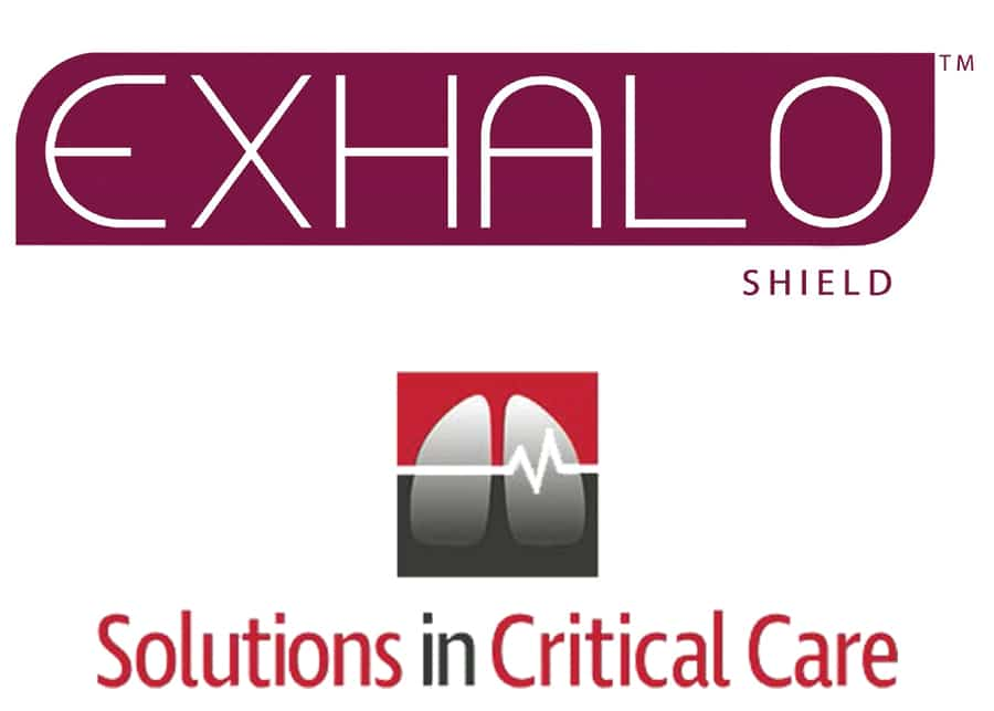 Exhalo Shield and Solutions in Critical Care logo