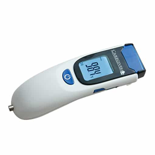 Caregiver no touch thermometer