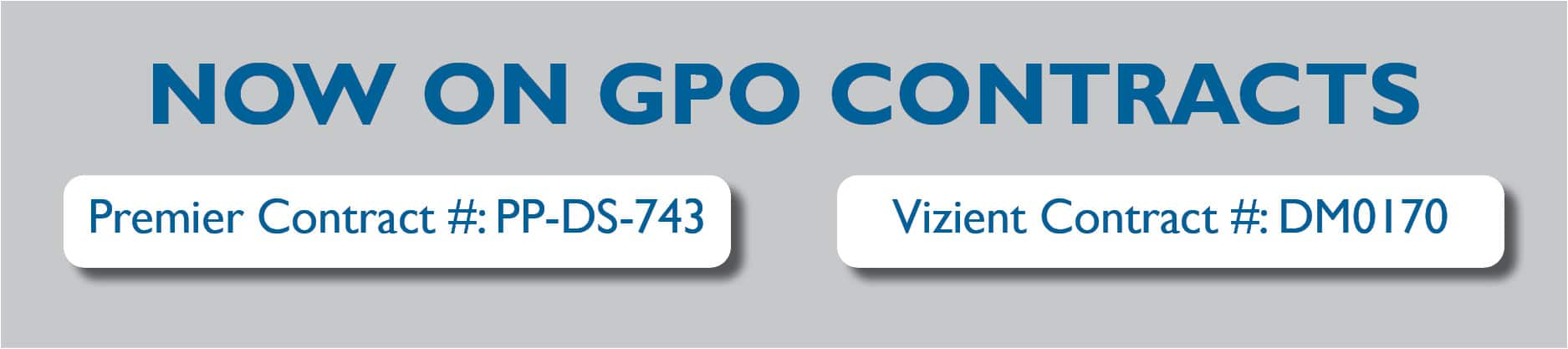 Solutions in Critical Care SCC products on GPO contracts Vizient and Premier